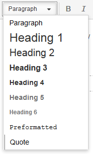 Editing Page In Confluence Standard Options