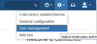 Confluence Administration - User management