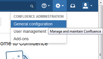 General configuration - emails in Confluence