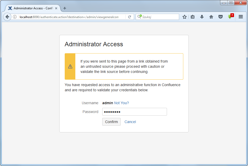 Administrator Access to define emails in Confluence