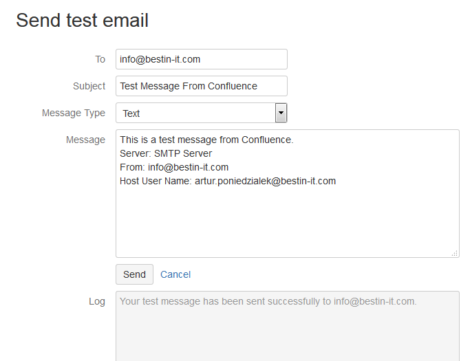 Test if emails in Confluence work properly